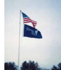 Warm Rain Flag with the American Flag